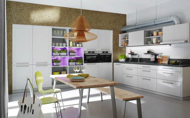 Küche - Wandverkleidung mit Dufttapete