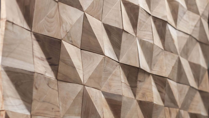 Handarbeit - Überschuss Holz als dekorative Wandgestaltung