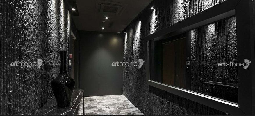 Moderne Steinwand - Zansibar negra