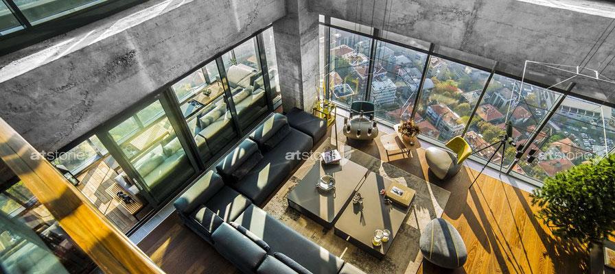 Penthouse - Beton Innenarchitektur