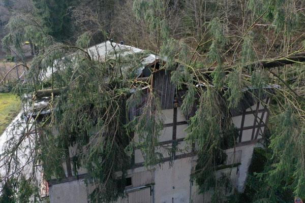 Sturmschäden Hammermühle Wünschendorf