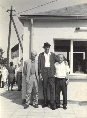 Erich Henker,Walter Drescher und Wolfgang Uhlig bei der Einweihungsfeier