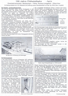 Wünschendorf Teichler 130 Jahre Flöhatalbahn Erzgebirge