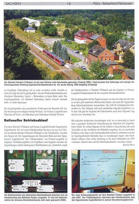 Wünschendorf Teichler Flöhatalbahn Erzgebirge