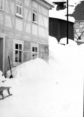 Winter in Wünschendorf Erzgebirge