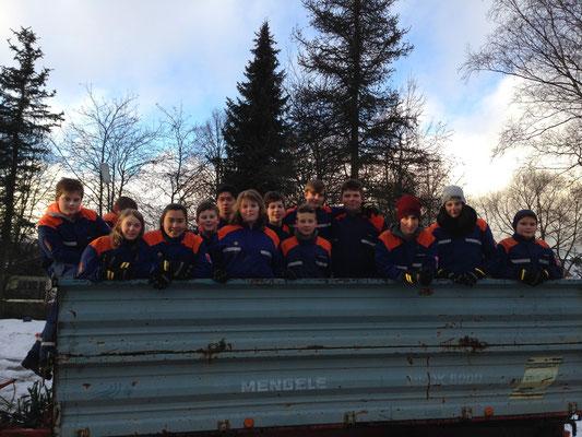 Aktuelle Jugendgruppe der FFW Buchbach
