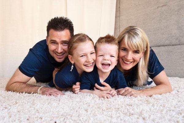 November 2014: mit Papa Ronald, Bruder Nicolas und Mama Sandra