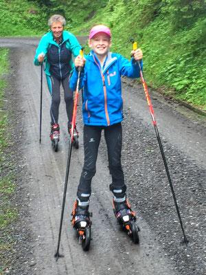 Juni 2016: Skiken mit Melanie Molitor