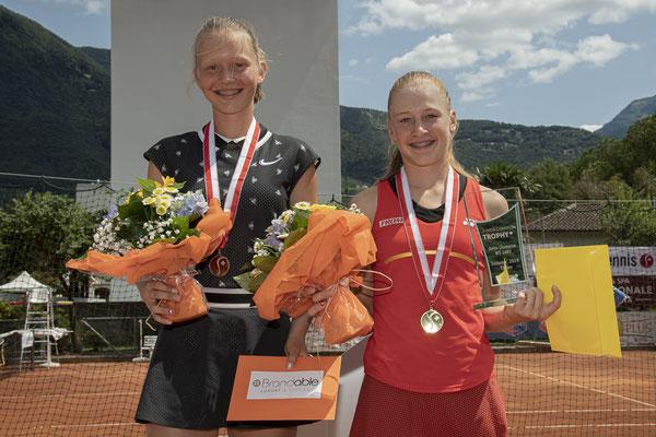 Juli 2019: Siegerehrung an den Junioren-Schweizermeisterschaften GS14, Sommer in Bellinzona TI
