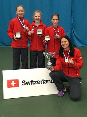 Februar 2017: Gewinn der Bronzemedaille an den Tennis Europe Team-EM Finals U12 in Sunderland, England