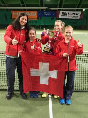 Februar 2017: Gewinn der Qualifikation anlässlich der Tennis Europe Team-EM U12 in Wien, Österreich