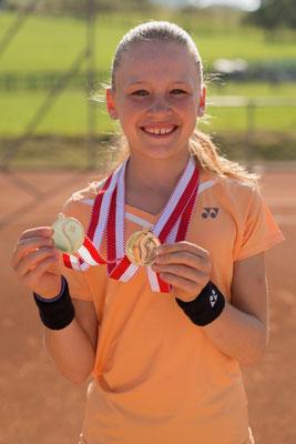 Juli 2016: Siegerin im Einzel an den Junioren-Schweizermeisterschaften GS12, Sommer in Uster ZH