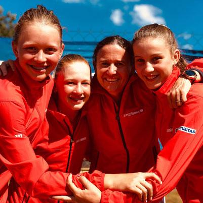 Juni 2019: Gewinn der Qualifikation anlässlich der Tennis Europe Team-EM U14 in Rakovnik, Tschechien