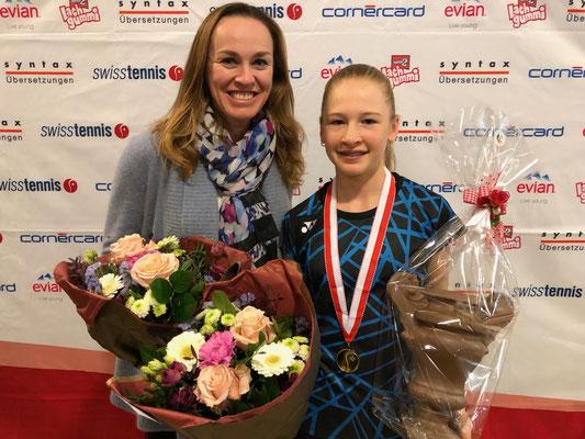 Januar 2019: Siegerin an den Junioren-Schweizermeisterschaften GS14, Winter in Kriens LU