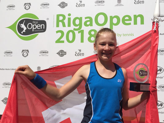 Juni 2018: Dritter Turniersieg auf der Tennis Europe Junior Tour, Grade 2, in Riga, Lettland