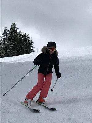 März 2019: Skifahren auf den Flumserbergen SG
