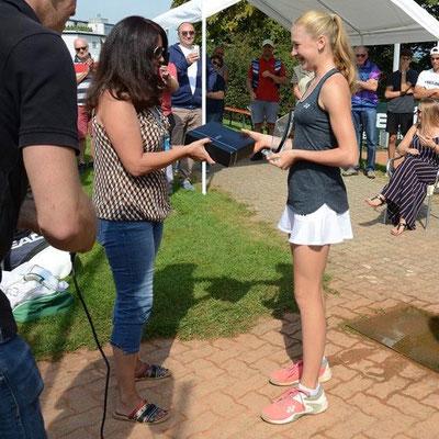 September 2019: Siegerehrung am ITF U18 J5 in Horgen