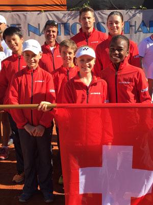 Juli 2016: Erste Teilnahme an der Tennis Europe Team-EM U12 in Galati, Rumänien