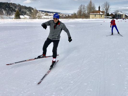 Februar 2019: Langlaufen mit Jörg Weiss in Einsiedeln SZ