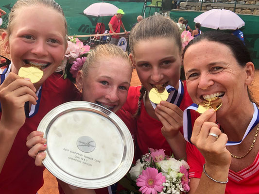 Juli 2019: Gewinn der Goldmedaille an den Tennis Europe Team-EM Finals U14 in Sanremo, Italien