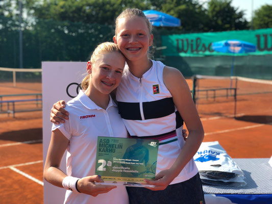 Mai 2019: Doppel mit Karolina Kozakova am TE U16 in Fossano, Italien