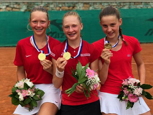 Juli 2019: Gewinn der Goldmedaille an den Tennis Europe Team-EM Finals U14 in Sanremo, Italien
