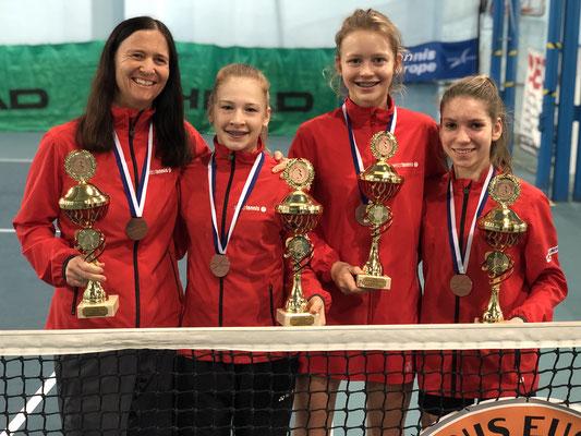 Februar 2019: Gewinn der Bronzemedaille an den Tennis Europe Team-EM Finals U14 in Rakovnik, Tschechien