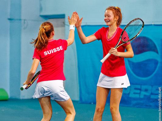 Februar 2019: Doppel mit Karolina Kozakova an den Tennis Europe Team-EM Finals U14 in Rakovnik, Tschechien