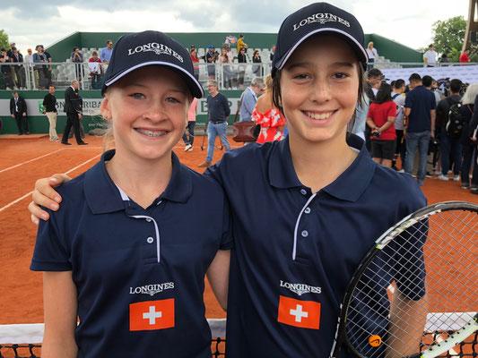 "Juni 2018: mit Kilian Feldpausch (SUI) bei ""Longines Future Tennis As 2018"" in Paris, Frankreich"