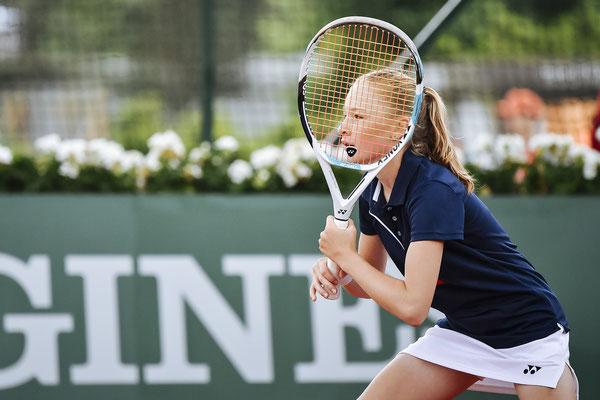 """Juni 2018: Viertelsfinale bei """"Longines Future Tennis As 2018"""" unter dem Eiffelturm in Paris, Frankreich"""