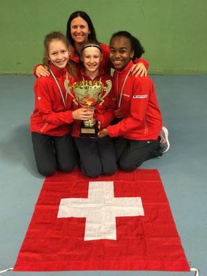 Februar 2018: Gewinn der Qualifikation anlässlich der Tennis Europe Team-EM U14 in Pésc, Ungarn