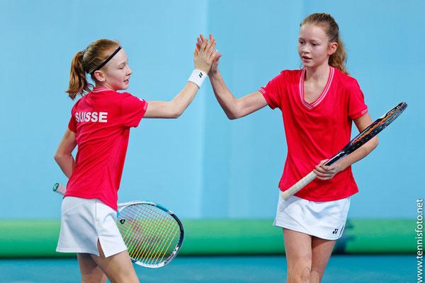 Februar 2018: Doppel mit Karolina Kozakova an den Tennis Europe Team-EM Finals U14 in Rakovnik, Tschechien