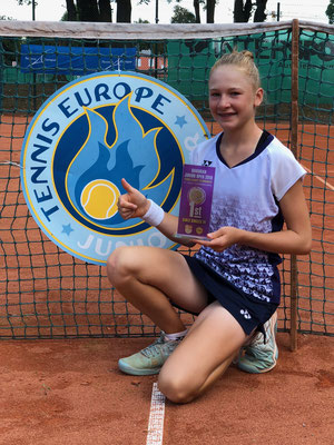 August 2018: Vierter Turniersieg auf der Tennis Europe Junior Tour, Grade 2, in Augsburg, Deutschland