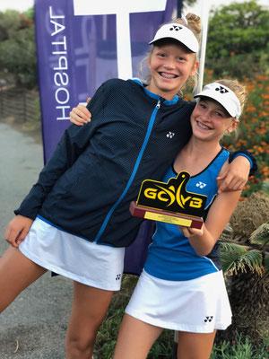 Oktober 2018: Fünfter Turniersieg auf der Tennis Europe Junior Tour, Grade 1, auf Gran Canaria, Spanien - wir mit Doppelpartnerin Karolina Kozakova