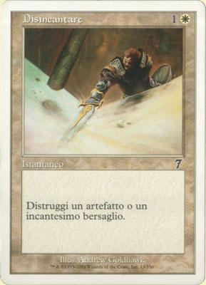 Désenchantement italien Septième édition front cut. Des decks à thème.