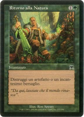 Naturalisation italien Carnage front cut. Des decks à thème.