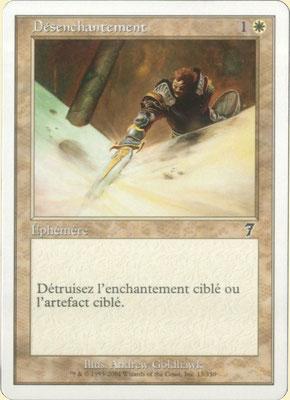 Désenchantement français Septième édition front cut. Des decks à thème.