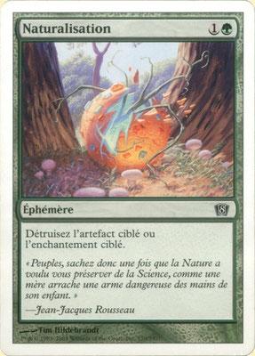 Naturalisation français Huitième édition front cut. Des decks à thème.