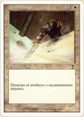Désenchantement espagnol Septième édition front cut. Des decks à thème.