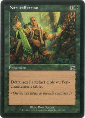 Naturalisation français Carnage front cut. Des decks à thème.