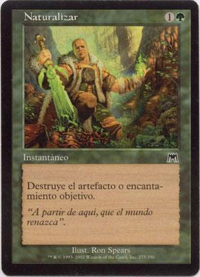 Naturalisation espagnol Carnage front cut. Des decks à thème.°