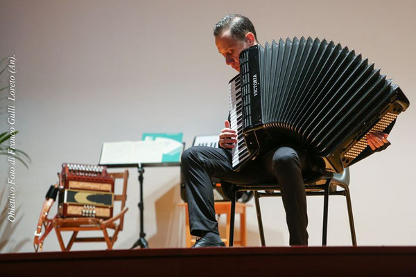 Il fisarmonicista M° Luigino Pallotta, ex allievo del M° Mugnoz