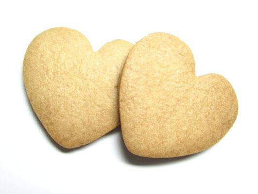 プリントクッキー 無地ハート