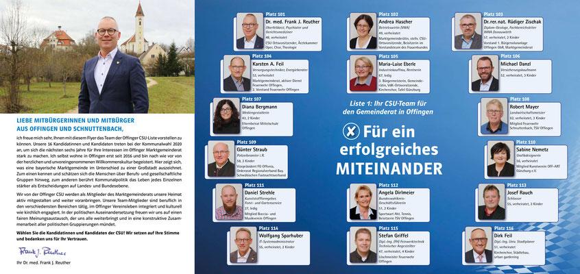 CSU - Infobroschüre CSU-Ortsverband Offingen