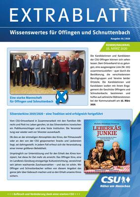 CSU - Extrablatt CSU-Ortsverband Offingen