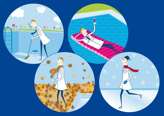 BAYROL - Illustrationen Jahreszeiten