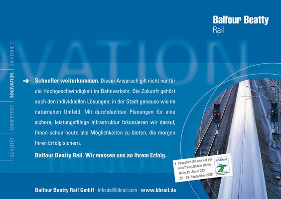 BALFOUR BEATTY RAIL - Image Anzeigenkampagne