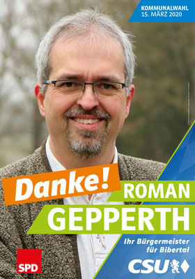 CSU - Wahlplakat Roman Gepperth