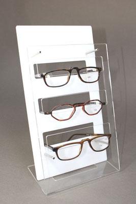 Brillenständer acryl für Theke, Schaufenster oder Regal.