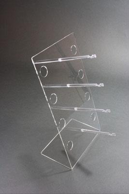 Brillenständer Acryl mit Halterung aus Polystyrol klar